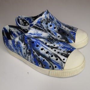 Native Boys Size 12 Casual Water Shoes Blue Marble